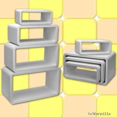 Lounge cube beistelltisch 4er set retro 60s style for Beistelltisch cube