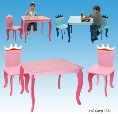 Kindersitzgruppe Prinzessin Kindermöbel Tisch 3tlg Megastore
