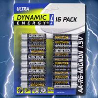 BATTERIEN (16) R6 AA ULTRA  16er PACK