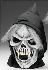 Halloween Kapuzenmaske Sklett *NEU* Maske mit Haaren
