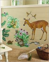 WALLIES TIERE d. WALDES TAPETEN BORD�RE WALLIS WANDBILD