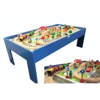holzeisenbahn kinder spieltisch 100 tlg holzspielzeug. Black Bedroom Furniture Sets. Home Design Ideas