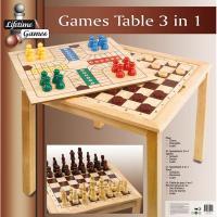 XXL SchachTISCH aus Holz Schachbrett Schachspiel Schach
