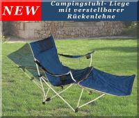FALTSTUHL mit Beinauflage Liegestuhl Campingstuhl