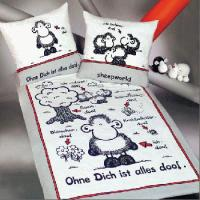 SHEEPWORLD BETTWÄSCHE OHNE DICH...155x200 BETTBEZUG