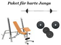 HANTELBANK KRAFTSTATION + LANGHANTELSTANGE HANTELBÄNKE