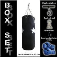 MEGA CANVAS BOXSACK SET 60 cm Boxhandschuhe Deckenhaken