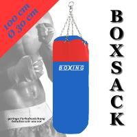 BOXSACK boxing 100cm blau rot  KETTE DREHWIRBEL