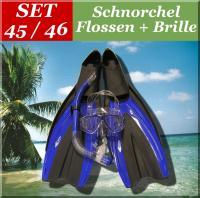 SCHNORCHEL SET SCHNORCHELSET FLOSSEN GR. 45-46