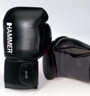 Boxhandschuh Fight, Leder, schwarz-rot, 14 OZ, Paar