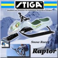 STIGA SNOW RACER RAPTOR LENKSCHLITTEN SKI BOB SCHLITTEN
