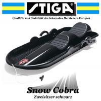 STIGA Lenkschitten BOB Snow Cobra SCHLITTEN schwarz