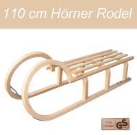 Hörnerrodel $NEU$ Holzschlitten 110 cm Holz Schlitten