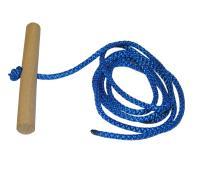 Schlitten Zugseil mit Holzgriff 100cm Seil Leine Tau