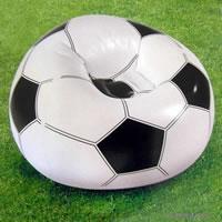 FUSSBALL SESSEL SITZ SOFA LUFTSESSEL + DEUTSCHLANDFAHNE