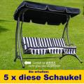 5 x Hollywoodschaukel Gartenschaukel Hollywood Schaukel
