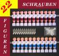 KICKERFIGUREN im Set  22 KICKER FIGUREN +Schrauben